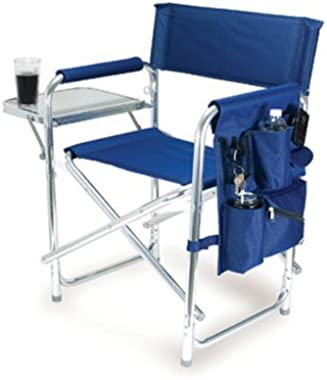 Graphic Image Aluminum Sports Chair, Navy Blue