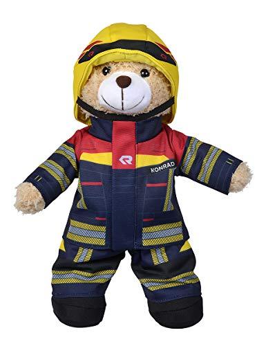 Simba 108101001 - Feuerwehr Plüschbär Rosenbauer, kuschelweich, 30cm, im Feuerwehranzug, für Kinder ab den ersten Lebensmonaten geeignet