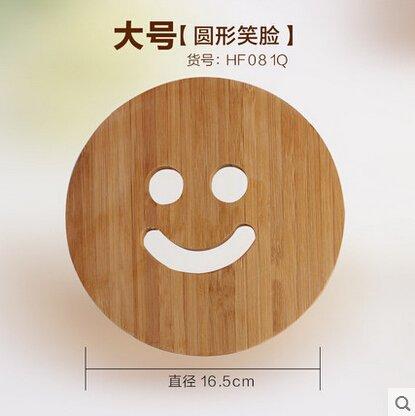 Neuf en Bambou Set de Table Isolation Thermique Pad en Bambou Dessous de Verre Plaque de Tapis de Table de Salle à Manger Pad Circle Dessous-de-Verre Support de Pot Bol Pad 8