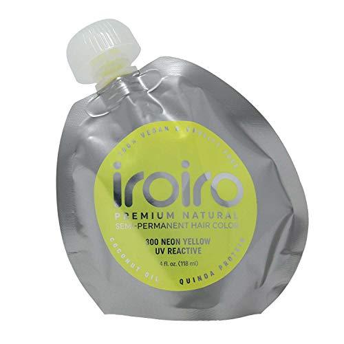 IROIRO Premium Natural Semi-Permanent Hair Color 300 Neon Yellow (4oz)