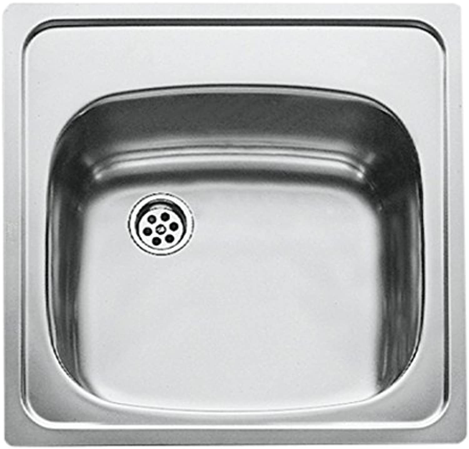 Teka Kitchen Sink with a Single Bowl Made of Stainless Steel 18 10 Thickness 0.6 mm E 50 1C 465 x 465 CN MAT 30000048, Grey
