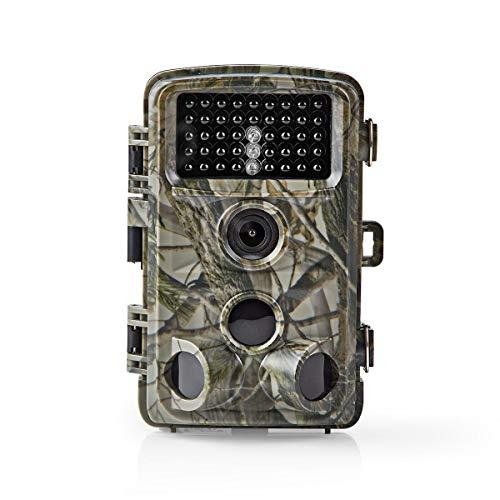 Nedis - HD-Wildkamera - 16 Megapixel - 5 MP CMOS - 108 ° Blickwinkel - 20 m Bewegungserkennung - Tag- und Nachtsicht - Schaltet Sich Automatisch EIN und Aus - Lange Lebensdauer - Tarnung