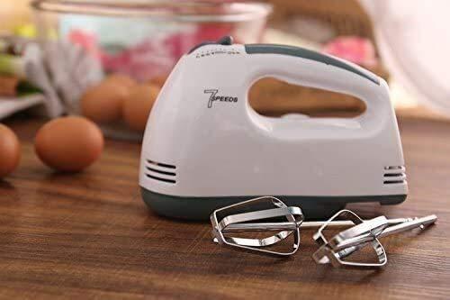 NLRHH Hand Hand Mixer Handheld 7 Speed Electric Batisk Kitchen Handheld Mano Máquina Máquina Máquina Huevo Batidor Agitador Viejos Mezcladores E Herramientas de Cocina Peng