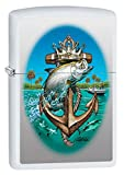 Zippo Lighter: Fish and Anchor by Rick Rietveld - White Matte 80940