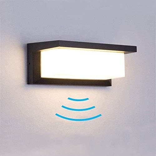 Außenleuchte mit Bewegungsmelder, 18W LED Wandleuchte Bewegungsmelder Aussen Wandlampe Innen Wandbeleuchte Wasserdichte IP65 Wandbeleuchtung für Garten Flur Weg Veranda Schlafzimmer Treppenhaus.