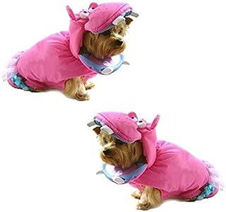 Dog Costume PINK HIPPOPOTAMUS Dress Dogs as Hippos Wild Zoo Animal(Size 6)
