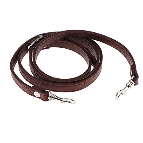 Correa de Bandolera de Cuero Ajustable Cuerda de Reemplazo Corchetes de Langosta - Marrón Claro, Tal como se Describe