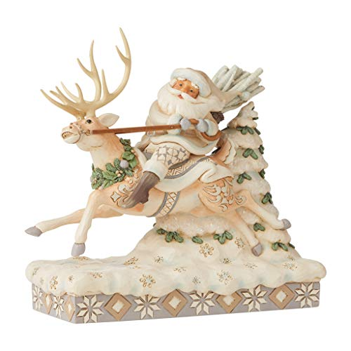 Heartwood Creek By Jim Shore Santa Riding Reindeer Figurine