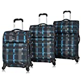 Lucas Designer Luggage Collection - 3 Piece Softside Expandable Ultra...