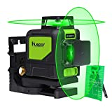 Huepar Green Self-Leveling Laser Level 2X 360-Degree Cross Line Laser Level with Pulse