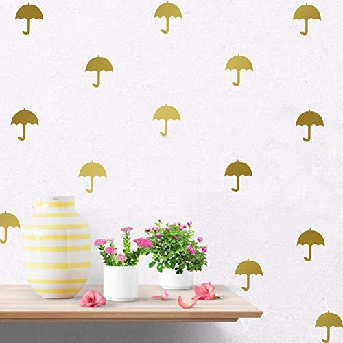 PISKLIU Muurstickers, 12 stuks, paraplu, cartoon, doe-het-zelf, muurstickers, vinylstickers, voor kinderen, kamer, slaapkamer, kunst, muurstickers, slaapkamer, reclame