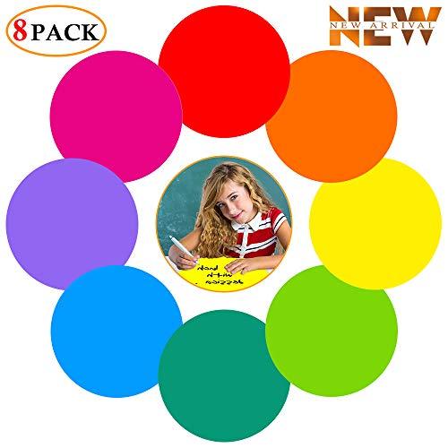 8 Stuks Kleurrijke Droge Wissen Dots Cirkels Whiteboard Marker Regenboog Verwijderbare Stickers Lijm Muursticker Spots voor Dills & Training School Klas Studenten Tafels & Bureau