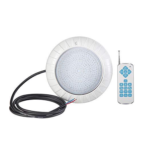 led luz sumergible,Luz LED para piscina de 35W / AC / 12V, luces sumergibles , luz de color variable RGB, adecuado para iluminación de piscinas / acuarios al aire libre, clasificación impermeable IPX8