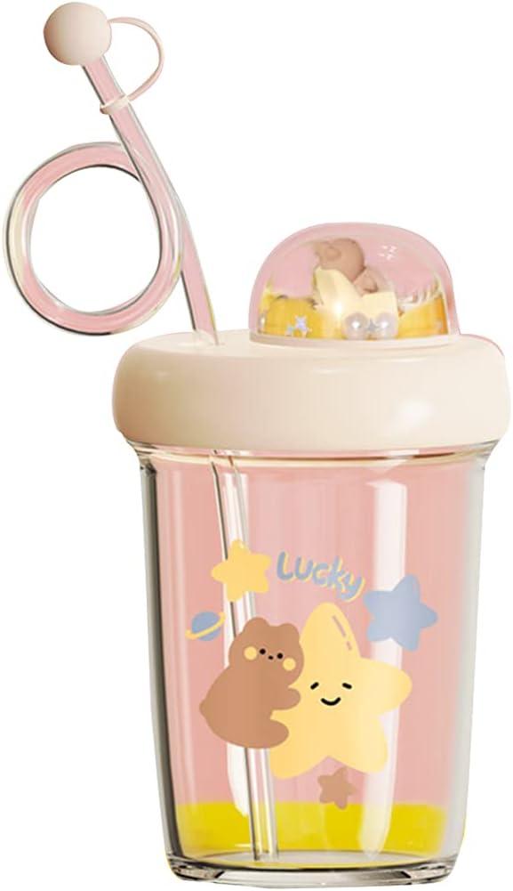 KerDejar SEAL limited product Cartoon Anti-Falling Baby Milk Straw Regular dealer Cup with Children