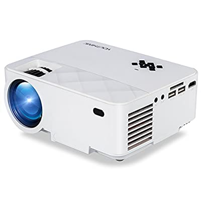YOUTHINK 2000 Lumens LED Video Projector Support 1080P Portable for PC Laptop iPhone Smartphone,Ideal for Home Cinema Theater,Full HD Game and Outdoor Movie Night with HDMI Cord