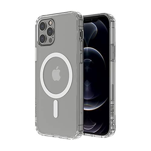 Belkin MagSafe-kompatible Hülle für das iPhone 12 Pro (mit antimikrobieller Beschichtung, integrierten Magneten & erhöhten Rändern zum Schutz der Kamera)