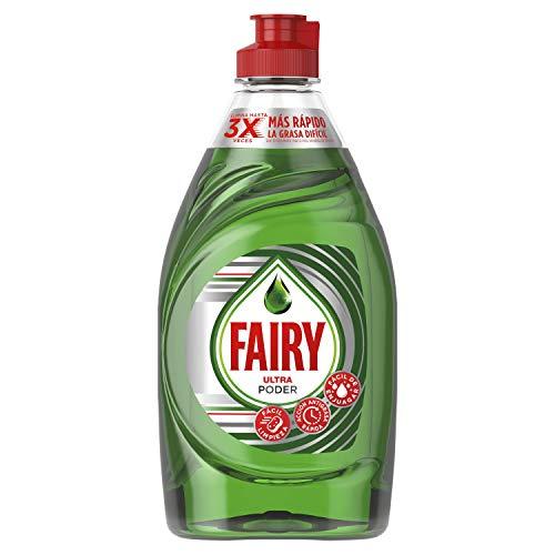 Fairy Ultra Original Líquido Lavavajillas Verde Con LiftAction: Sin Dejar En Remojo, Sin Grasa, Sin Dificultad Y Suave Con La Piel 400 ml