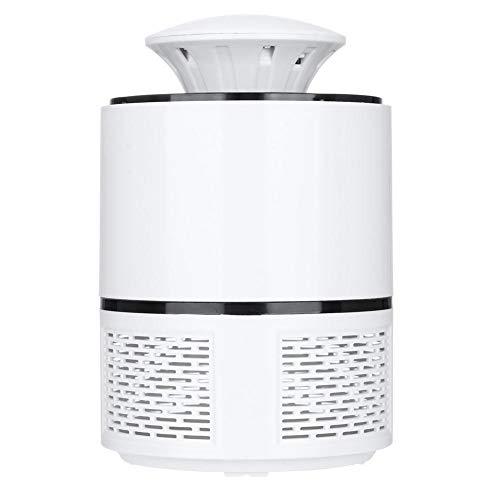 Longzhuo Lámpara para Matar Mosquitos, lámpara electrónica USB Segura UV, luz para Matar Mosquitos, zumbido, Mosca, Insecto, para Interior(Blanco)