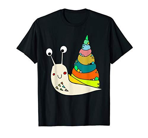 schnecki das lustige Schnecke mit Schneckenhaus t-shirt