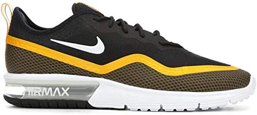 Nike Herren Air Max Sequent 4.5 Se Leichtathletikschuhe, Mehrfarbig (Black/White/University Gold 000), 44 EU