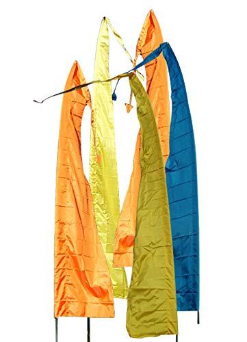 DEKOVALENZ - Gartenfahnen-Stoff DENPASAR mit Herz-Spitze, versch. Farben+Längen, Fahnenlänge:7 Meter, Farbe:goldbronze