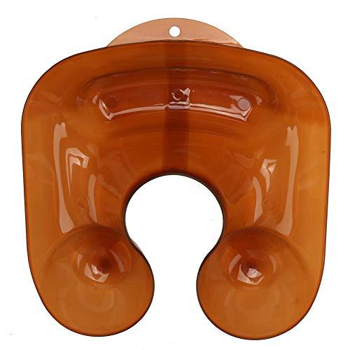 Bandeja de cuello cómoda en forma de U, contenedor permanente, PVC para peluquería Corte de cabello(Translucent)