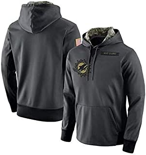 Dunbrooke Apparel Miami Dolphins Salute to Service Anthracite Hoodie for Men Women