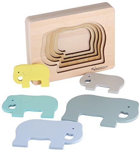 Kindsgut puzzle in legno a tema animali, elefante