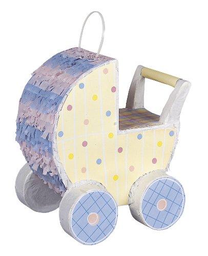 Piñata in Kinderwagenform für Babyparty
