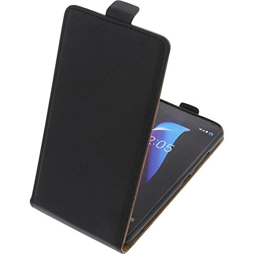 foto-kontor Funda para Bq Aquaris V/VS Protectora Tipo Flip para móvil Negra