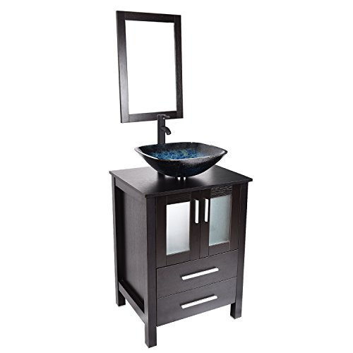 Modern 24 inch Bathroom Vanity with Sink MDF Floor...