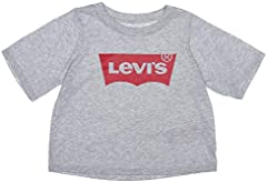 Levi's Camiseta Cropped Top Light Bright para Niña