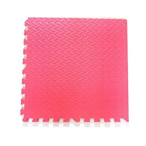 AWSAD Dalles en Mousse avec Bordure Protection De Sol Extérieur/Intérieur, 5 Couleurs 4 Taille (Color : Red, Size : 60x60x1.2cm 10 Pieces)