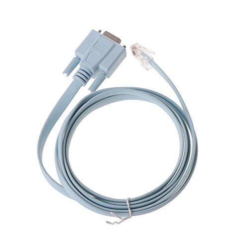 Ontracker - Cable adaptador de red para Console RJ45 a RS232-DB9 COM