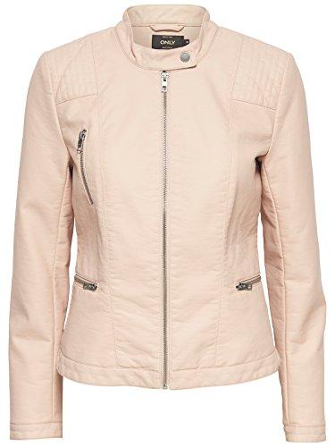 ONLY Damen onlWILMA Faux Leather Jacket CC OTW Jacke, Rosa (Cameo Rose), 34