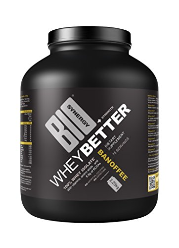 Bio-Synergy Whey Better. Whey Protein Powder Isolate. 2.25kg (75 Servings), Banoffee Flavour