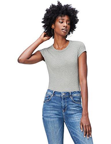 Marca Amazon - find. Camiseta con Cuello Redondo Mujer