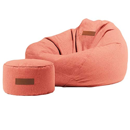 Bean Bag Home Beanbag with Foot Pads, Filled with EPP Particles, Soft and Support The Body, Sofa with Zipper Design, Easy to Clean, 89x90cm, 9 Colors (Color : Red)