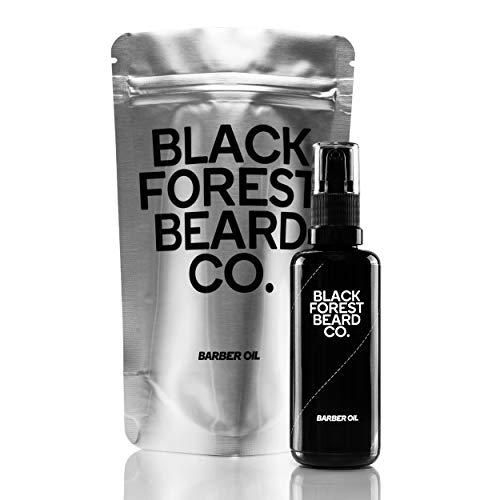 50ml 2-in-1 Aftershave & Bart-Öl - Barber Oil von Blackforest Beard Co. - Highend Pflegeöl zur Rasur - Nachbehandlung und Bartpflege mit seltenem Amlaöl