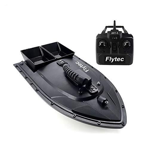 DishyKooker Flytec 2011-5 Elektro Fischköder RC Boot 500M Remote Fish Finder 5.4km / h Doppelmotor Spielzeug Kit/RTR Version Grün Britische Regulierungsbehörde