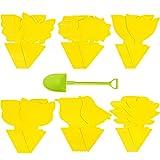36 trampas para moscas con adhesivo amarillo, para moscas de la fruta, para plantas, moscas de la fruta, adhesivos amarillos para moscas, respetuosa con el medio ambiente, para pulgones y polillas