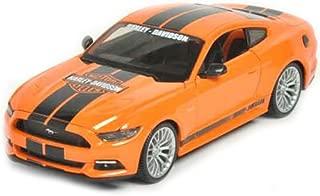 Maisto 32188 2015 Ford Mustang Harley Davidson Orange 1/24 Diecast Car Model