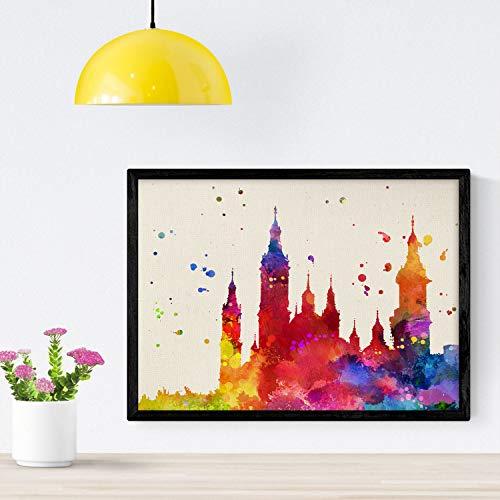 Nacnic Poster de El pillar zaragoza. Láminas e ilustraciones de ciudades, comunidades, y mapas de España. Tamaño...