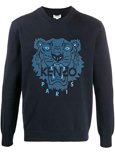 Kenzo Luxury Fashion Herren FA55PU5003XB77 Blau Baumwolle Sweater | Frühling Sommer 20