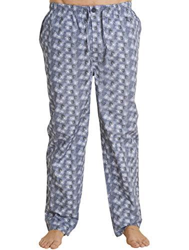 El Búho Nocturno Pantalón de Pijama Suelto de Hombre Pantalón de Pijama Caballero de Entretiempo de clásico de a Rayas o Cuadros Ropa de Dormir para Hombre Popelín de algodón