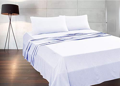 MADE IN ITALY - Completo Lenzuola + 2 Federe per letto Matrimoniale (sotto con angoli 170x190 H 20) in puro cotone 100% made in Italy by Il Filo (bianco, matrimoniale)