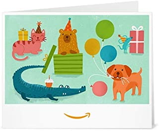 animal birthday cards to print