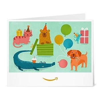 Amazon Gift Card - Print - Birthday Party Animals