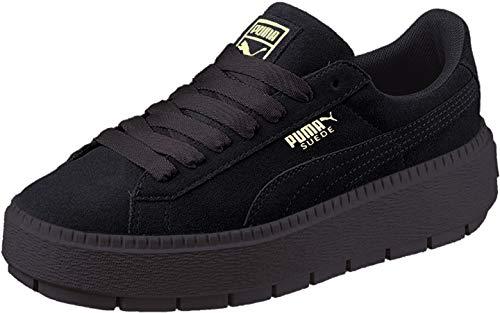 PUMA Womens Platform Trace Casual Sneakers, Black, 9