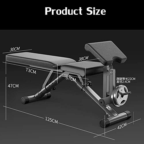 YCLOGHO Men's and Women's Fitness Dumbbell Bench Weight Bench with Leg Extension and Leg Curl, Foldable Versatility Workout Bench, Fully Adjustable Weight Training Equipment